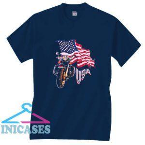 USA Biker T Shirt