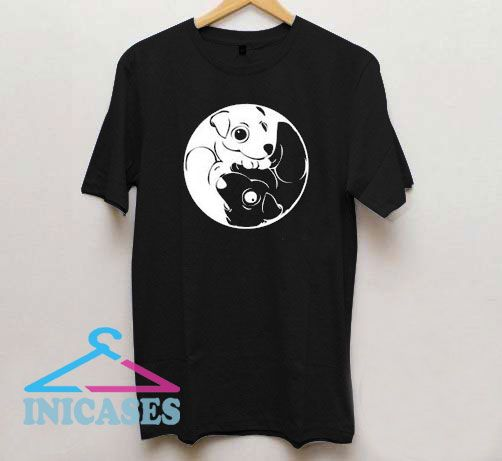 Yin Yang Dog T Shirt