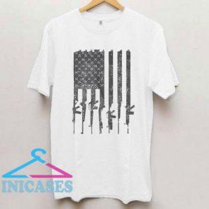 American Flag Rifles T Shirt