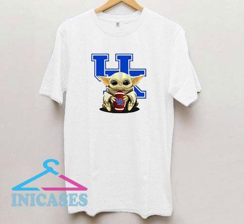 Baby Yoda Hug Kentucky Wildcats T Shirt
