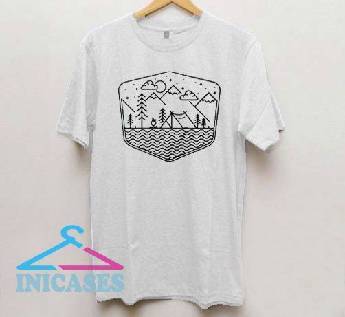 Camping Line T Shirt