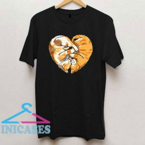 Cat Heart Valentines Day T Shirt
