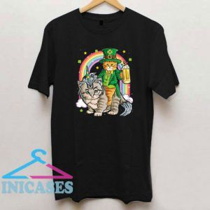 Cat Unicorn Leprechaun St Patricks Day Caticorn T Shirt