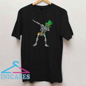 Dabbing Skull Leprechaun St Patricks Day T Shirt