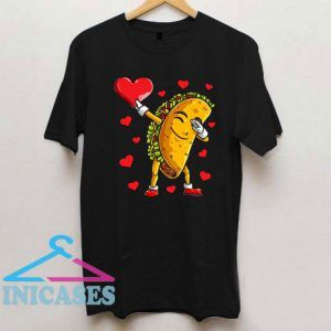 Dabbing Taco Heart Love Valentines Day Food Lover T Shirt