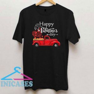 Happy Valentines Day Truck Carrying Love Heart T Shirt