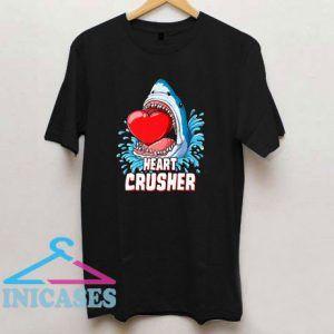 Heart Crusher Valentines Day Shark Boys T Shirt