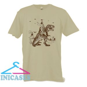 Jesus Riding Dinosaur T Shirt