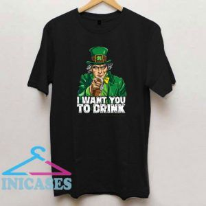 Leprechaun Uncle Sam Funny St Patricks Day Drink T Shirt