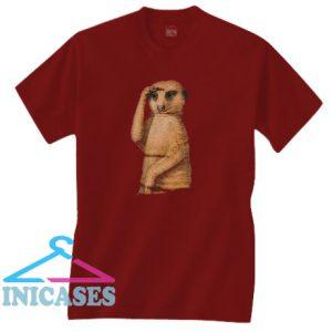 Meerkat Maroon T Shirt