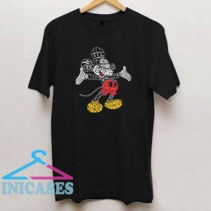 Mickey Mouse Calligram T Shirt