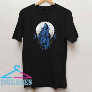 Night Wolf Head Geometric T Shirt