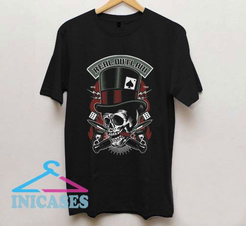 Real Outlaw Skull T Shirt