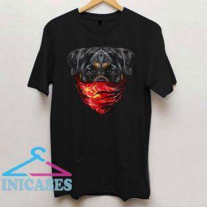 Rottweiler Dog in Soviet Union Bandana T Shirt