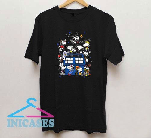 Snoopy Of Doctor Police Box T Shirt