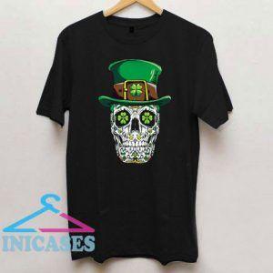 Sugar Skull Leprechaun St Patricks Day T Shirt