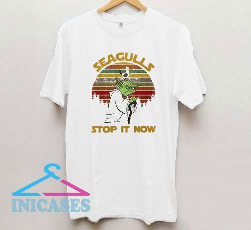 Vintage Yoda Seagulls Stop It Now T Shirt
