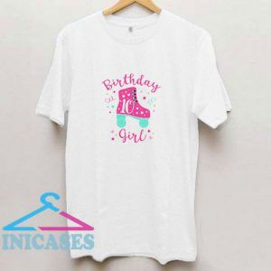 10th Birthday Girl Pink Roller Skate T Shirt