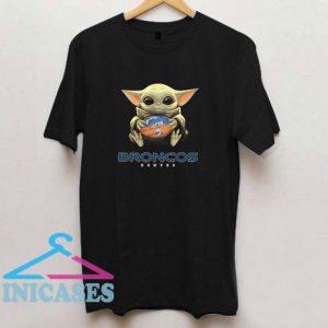 Baby Yoda Hug Denver Broncos T Shirt