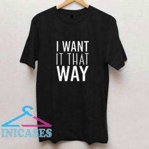 Backstreet Boys I Want It That Way Bsb T Shirt