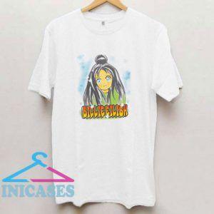 Billie Eilish Anime Face T Shirt