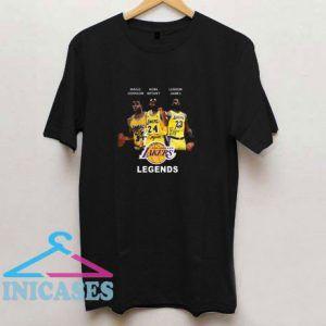 Magic Johnson Kobe Bryant Lebron James Los Angeles T Shirt