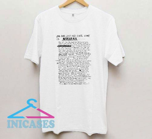 Named As Nirvana T Shirt