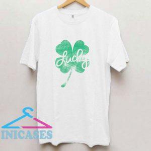Patricks Day Lucky Retro Shamrock T Shirt