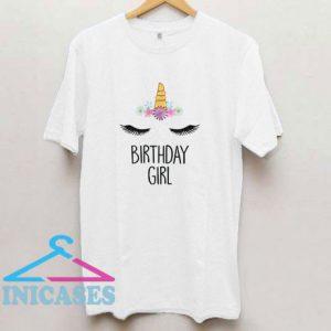 Unicorn Birthday Girl T Shirt