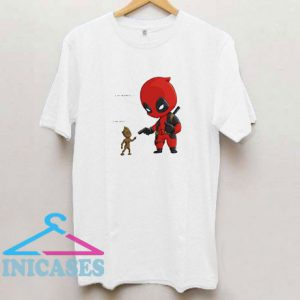 Baby Groot And Baby Deadpool T Shirt