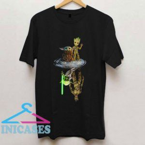 Baby Yoda And Baby Groot Master Yoda T Shirt