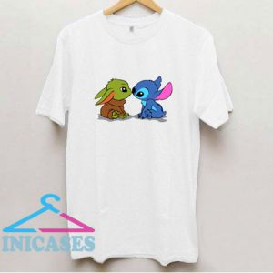 Baby Yoda And Baby Stitch T Shirt