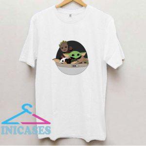 Baby Yoda Baby Groot And Gremlins T Shirt