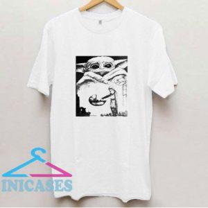 Baby Yoda In Mandalorian T Shirt