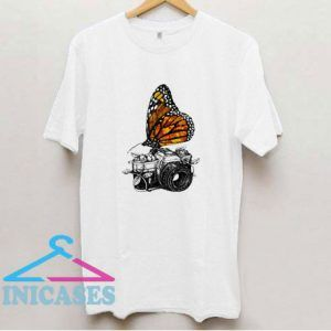 Camera And Butterfly T Shirt