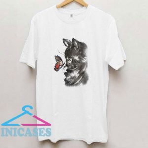 Cat And Butterfly T Shirt