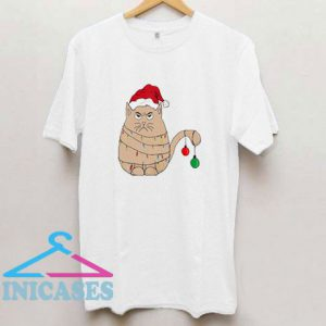 Cat Christmas Hat T Shirt