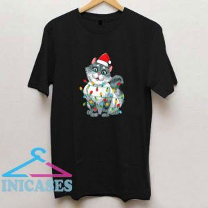 Christmas Cat Wrapped T Shirt
