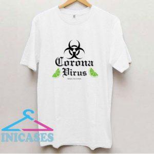 Corona Virus Graphic Lime T Shirt