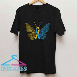Down Syndrome Awareness Butterfly T Shirt