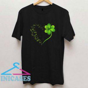 Dragonfly Heart Irish ShamrockT Shirt