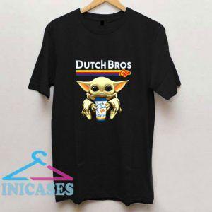 Dutch Bros Coffee Star War Baby Yoda T Shirt