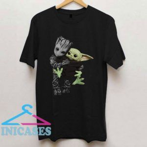 Groot Hugging Baby Yoda T Shirt
