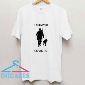 I Survived Covid Graphic Art T Shirt