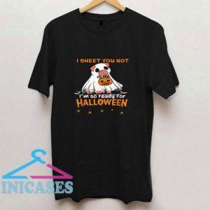 Im So Ready For Halloween Pig Boo T Shirt