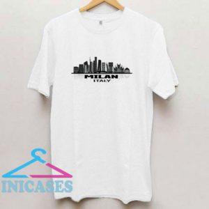 Milan Milano Lombardy Italy Skyline T Shirt