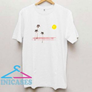 Painted Palms And Moon T Shirt