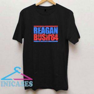 Reagan Bush 84 Retro 80s T Shirt