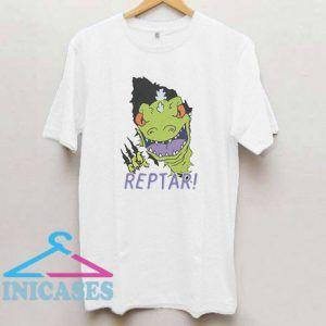 Slim Rugrats Reptar Ripping Through T Shirt