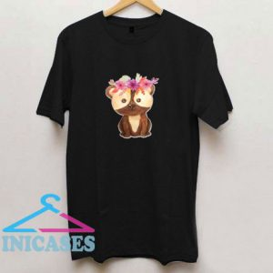 Teddy Bear with Flower T Shirt
